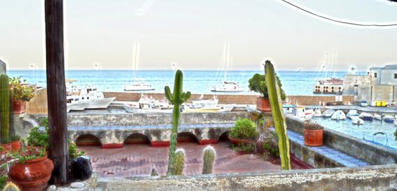 villa lipari terrace